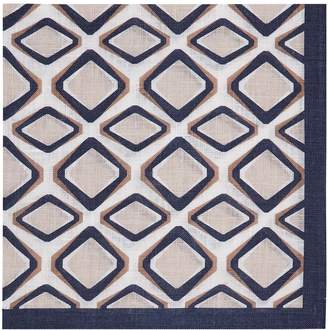 Reiss FRANCISCO LINEN POCKET SQUARE Taupe