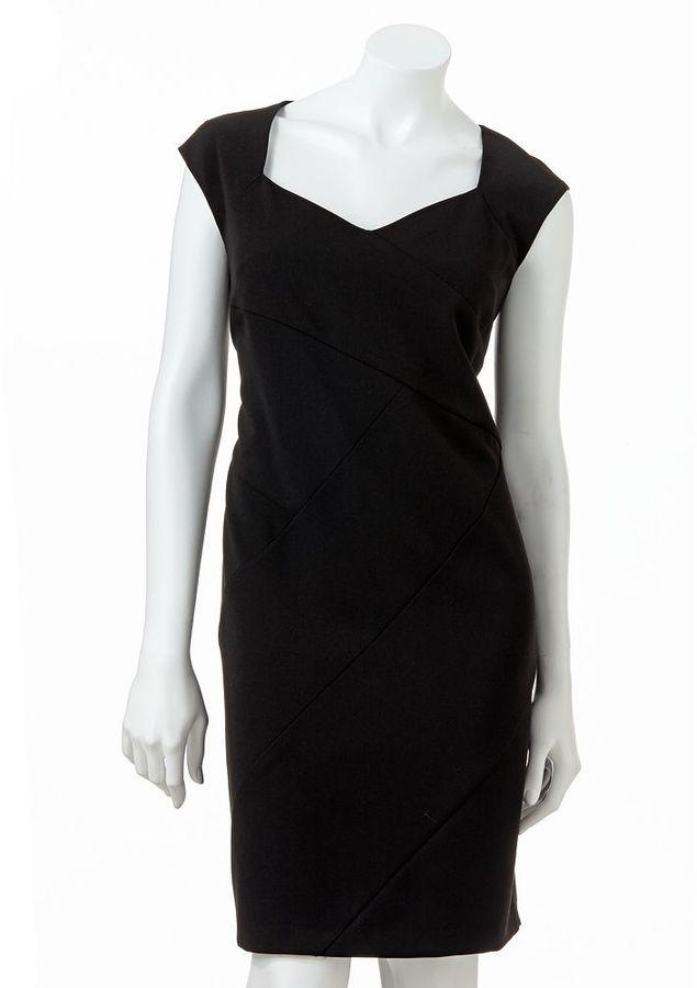 Ab studio pieced sheath dress
