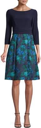 Eliza J Floral Fit--Flare Dress