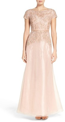 Women's Adrianna Papell Beaded Organza Gown $379 thestylecure.com