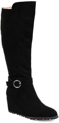 Journee Collection Womens Jc Veronica-Xwc Dress Wedge Heel Zip Boots