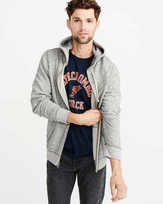 Abercrombie & Fitch Fleece Full-Zip Icon Hoodie