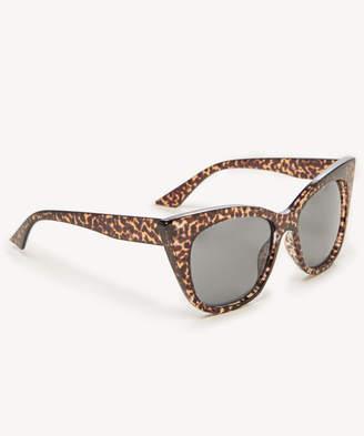 Sole Society Ary Leopard Tortoise Oversize Cat-eye