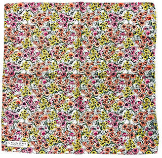 Laundry by Shelli Segal Floral Silk Pocket Square