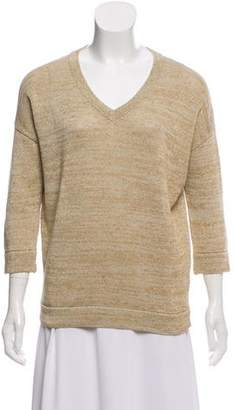 Brunello Cucinelli Linen Metallic Knit Top