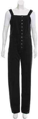 MiH Jeans Wide-Leg Square Neck Overalls