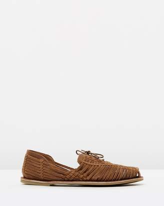 Webb Woven Leather Moccasins