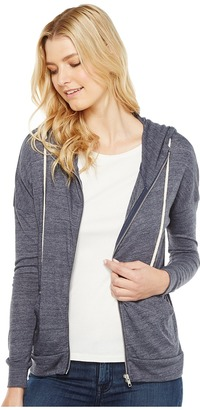 Alternative - Eco Jersey Cool Down Zip Hoodie Women's Sweatshirt $46 thestylecure.com
