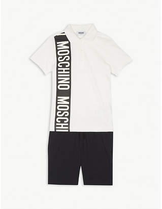 Moschino Polo shirt and shorts cotton set 4-12 years