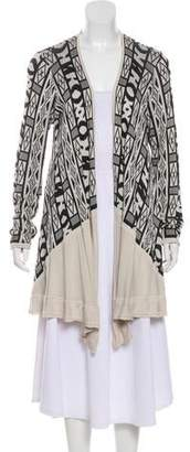 Yigal Azrouel Knit Open-Faced Cardigan