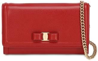 Salvatore Ferragamo Mini Vara Embossed Lather Shoulder Bag