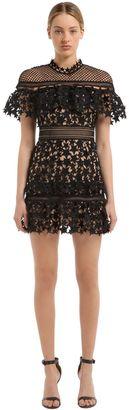 Yoke Ruffled Star Lace Mini Dress $475 thestylecure.com