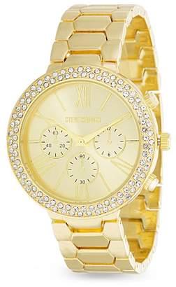 Steve Madden Women's Multifunction White Jewel Roman Numeral & Stick Watch, 40mm