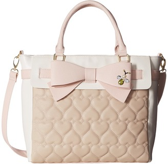 Betsey Johnson Belted Bow Tote $98 thestylecure.com