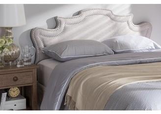 Baxton Studio Debbie Modern and Contemporary Greyish Beige Fabric Full Size Headboard