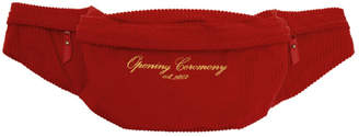 Opening Ceremony Red Corduroy Fanny Pack