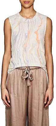 Raquel Allegra Women's Tie-Dyed Linen-Cotton Tank - Purple