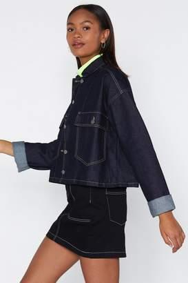 Nasty Gal I Should Be Sew Lucky Denim Jacket