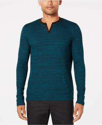 Alfani Men's Textured Space-Dyed Stretch Henley