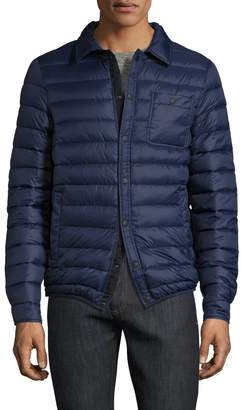 Slate & Stone Men's Nylon Spread Collar Puffer Jacket