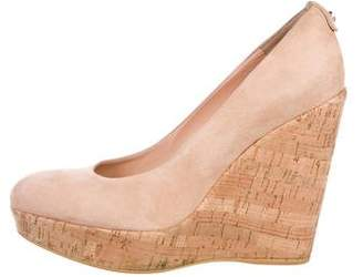 Stuart Weitzman Suede Wedge Pumps