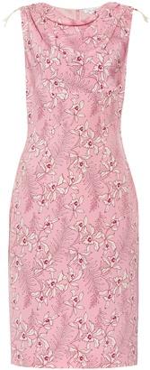 OSCAR DE LA RENTA Floral-print silk-mikado dress $1,690 thestylecure.com