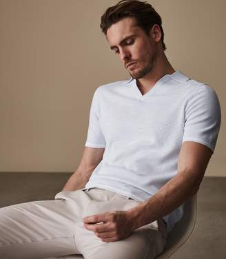 Reiss Filippo Open Collar Polo Shirt