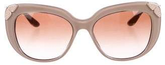 Bvlgari Embellished Cat-Eye Sunglasses w/ Tags