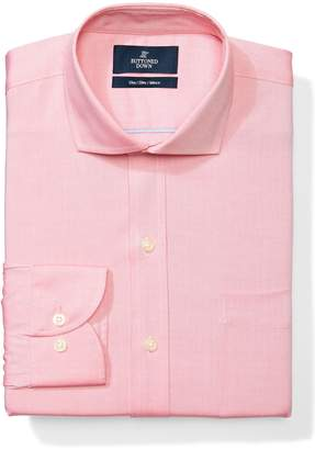 Buttoned Down Men's Slim Fit Cutaway-Collar Solid Non-Iron Dress Shirt (Pocket)