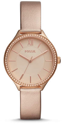 Fossil Suitor Three-Hand Tan Polyurethane Watch
