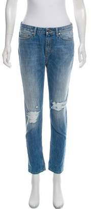 IRO Distressed Mid-Rise Jeans w/ Tags