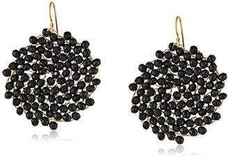 Kenneth Cole New York Faceted Woven Bead Round Drop Earrings