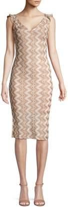 BCBGeneration Zigzag Lace Sheath Dress
