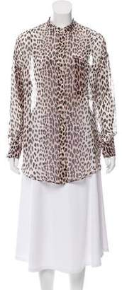 Giada Forte Silk Leopard Print Tunic w/ Tags