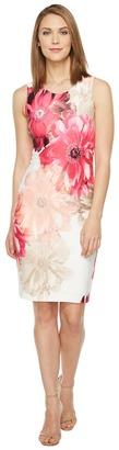 Calvin Klein - Printed Sheath Dress Women's Dress $129.50 thestylecure.com