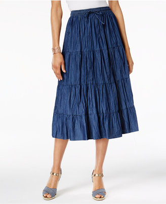 Alfred Dunner Crinkled A-Line Skirt $54 thestylecure.com