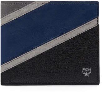 MCM Ottomar Bifold Wallet In Chevron Leather