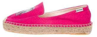 Soludos Embroidered Round-Toe Espadrilles