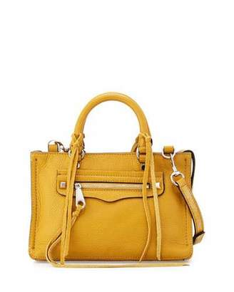 Rebecca Minkoff Regan Micro Leather Satchel Bag, Harvest Gold $225 thestylecure.com