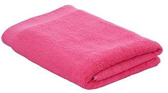 George Home 100% Cotton 2 Pack Bath Towels - Bright Pink