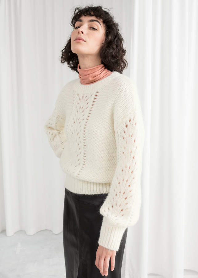 Eyelet Knit Sweater