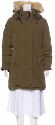 Canada Goose Fur-Trimmed Knee-Length Coat
