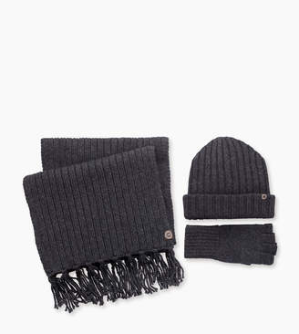 UGG Glove Ribbed Scarf And Hat Set