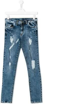 John Richmond Junior Teen ripped detail jeans