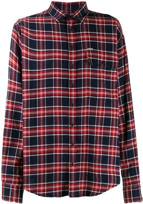 DSQUARED2 oversized plaid shirt