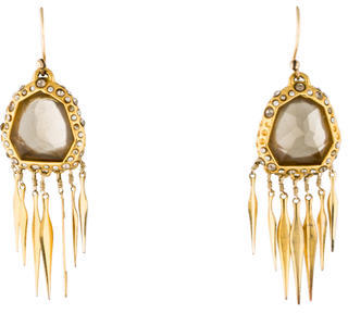 Alexis Bittar Smoky Quartz & Crystal Fringe Earrings $125 thestylecure.com