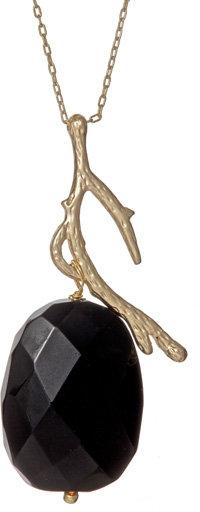 Blu Bijoux Black Crystal Branch Necklace