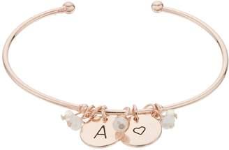 Lauren Conrad Initial Charm Cuff Bracelet