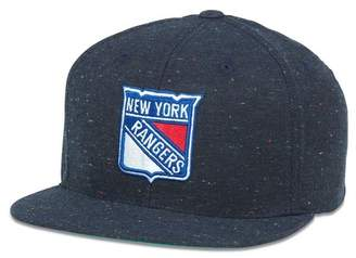 American Needle New York Rangers Fleck Patterned Flat Brim Baseball Cap