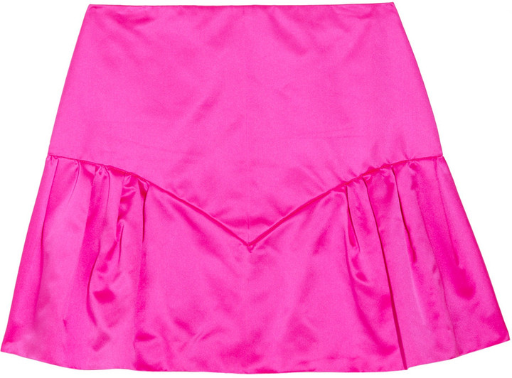 Miu Miu Silk-duchesse mini skirt